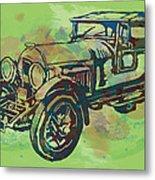 Classical Car Stylized Pop Art Poster Metal Print