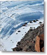 Cliffs And Sea Ice Metal Print