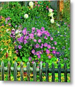 Close-up Of Flowers, Muren, Switzerland Metal Print