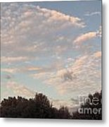 Clouds Above The Trees Metal Print