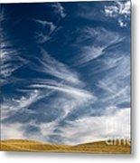 Clouds And Field Metal Print