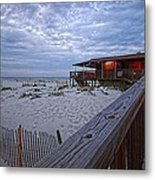 Cloudy Morning At The Sea N Suds Metal Print