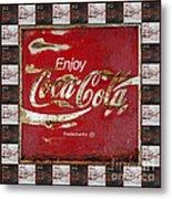 Coca Cola Signs Metal Print
