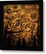 Coca Cola Wooden Sign Metal Print
