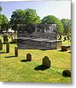 Col. Benjamin Church And Elisabeth Pabodie Gravesites In Little Compton Ri Metal Print