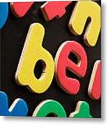 Colorful Letters Metal Print