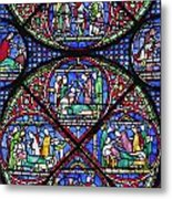 Colourful Stained Glass Window In Metal Print