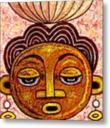 Congalese Face 2 Metal Print