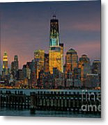 Construction Of The Freedom Tower Metal Print