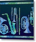 Cool Blue Band Metal Print