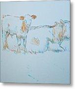 Cow Painting Metal Print