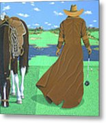 Cowboy Caddy Metal Print