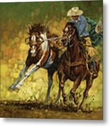 Rodeo Pickup Metal Print