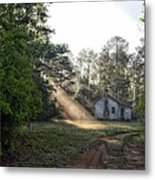 Crepuscular Rays In Alabama Metal Print