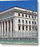 Croatian National Bank Zagreb Metal Print by Borislav Marinic