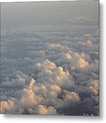 Cumulus Clouds At Sunset Metal Print