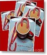 Cup Of Christmas Cheer - Candy Cane - Candy - Irish Cream Liquor Metal Print