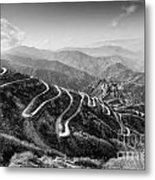 Curvy Roads Silk Trading Route Between China And India Metal Print