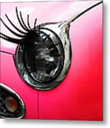 Cute Pink Car Metal Print by Jasna Buncic