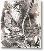 Darwin Caricature Metal Print
