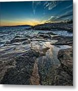 Day's End At Scoodic Point Metal Print