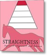 Define Straightness Metal Print