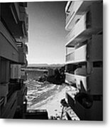 Densely Packed Salou Waterfront Properties On The Costa Dorada Catalonia Spain Metal Print