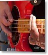 Bass Playing - Denver Metal Print