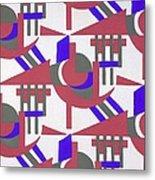 Design From Nouvelles Compositions Decoratives Metal Print