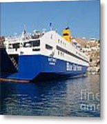 Diagoras Ferry Symi Metal Print