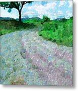 Dirty Road Painting Metal Print