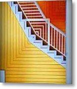 Distorted Stairs Metal Print