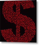 Dollar People Icon Metal Print