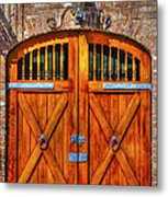 Doors Of Charleston Metal Print