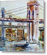 Downtown Bridge Metal Print