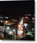 Downtown Morgantown From Above Metal Print