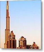 Dubai Downtown On Sunset Metal Print