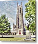 Duke Chapel In Spring Metal Print