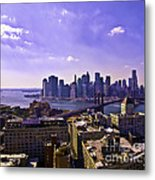 Dumbo View Of Lower Manhattan Metal Print
