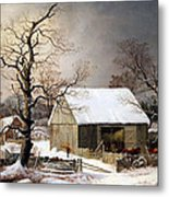 Durrie's Winter In The Country Metal Print