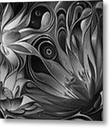 Dynamic Floral Fantasy Metal Print
