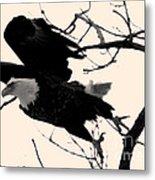 Eagles Along The Mississippi Metal Print