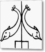 Early Christian Symbol Metal Print