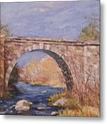 Early Spring At The Trestle Metal Print