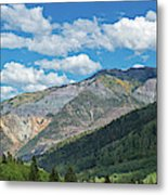 Elevated View Of Trees On Landscape Metal Print
