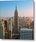 Empire State Building At Sunset Metal Print
