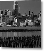 Empire State Building Dressed Up In Pastels Metal Print