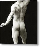 Eugen Sandow In Classical Ancient Greco Roman Pose Metal Print
