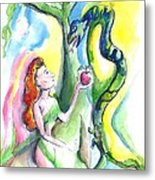 Eve And The Serpent Metal Print