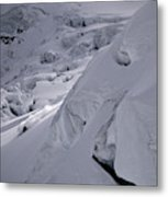 Extreme Skier Going Fast In Beautiful Metal Print